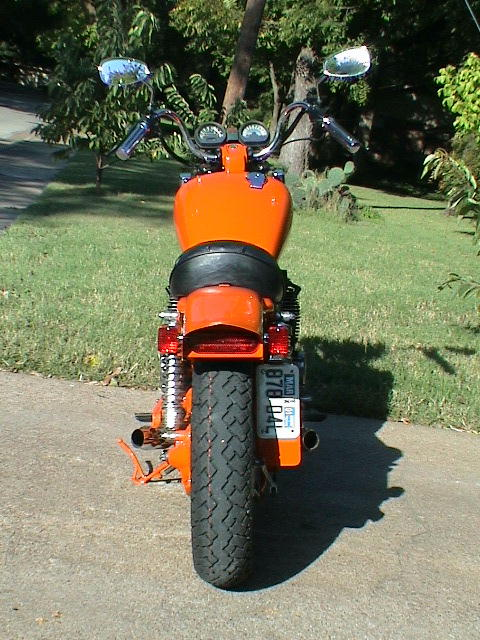 xj650 blog Custom Orange 1981 XJ650 Maxim Front View